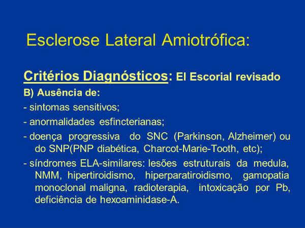 esclerose lateral amiotrófica diagnóstico